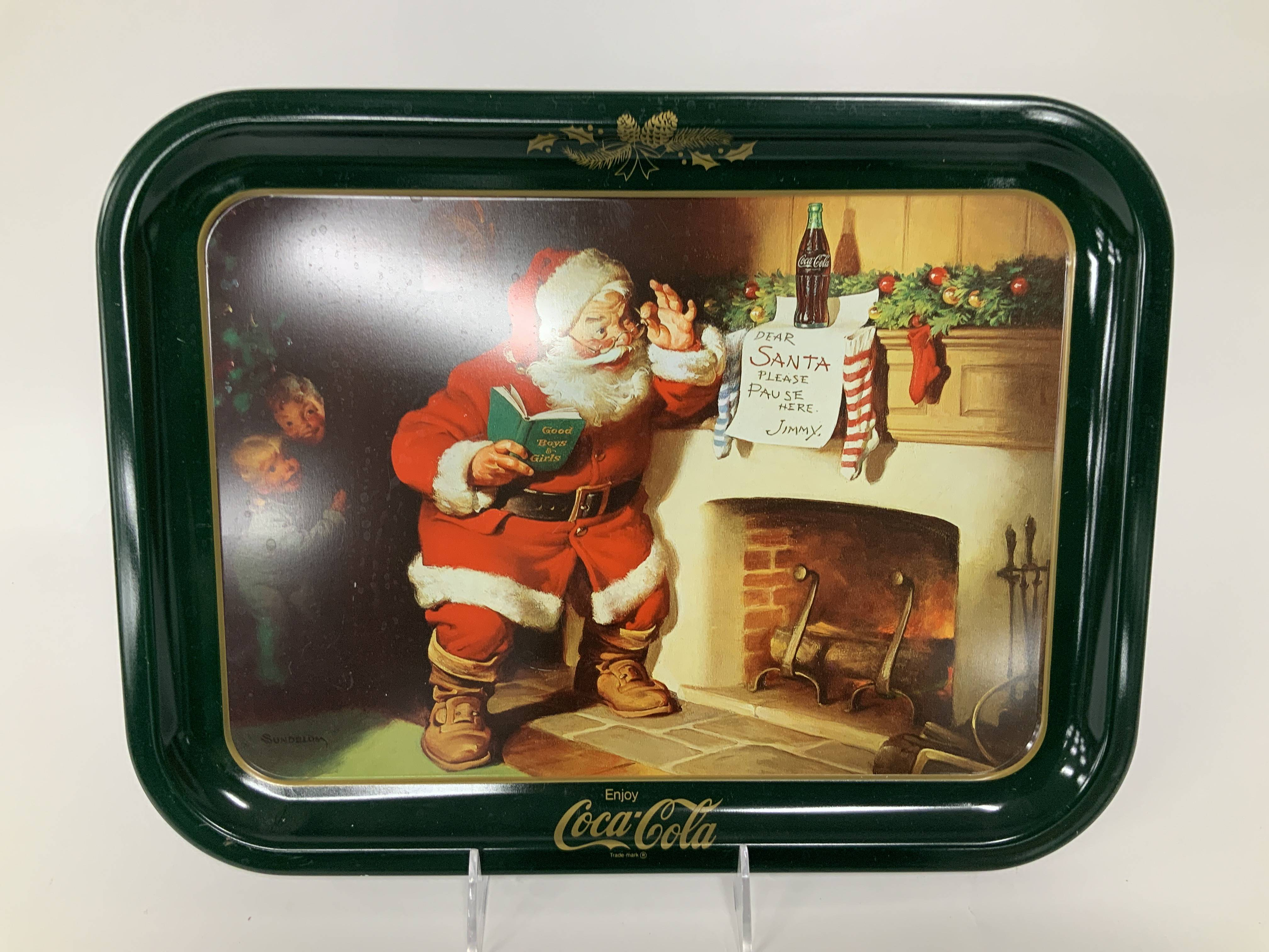 Coca Cola Dear Santa Serving Tray Auction Mecum On Time
